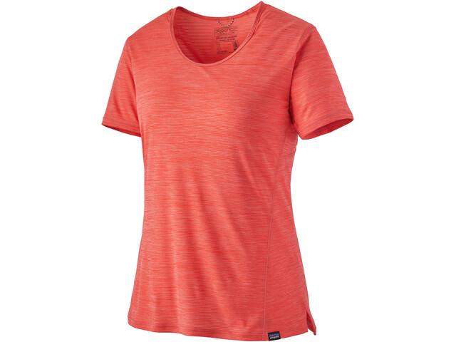 Patagonia Capilene Cool Lightweight Camiseta Mujer, rojo